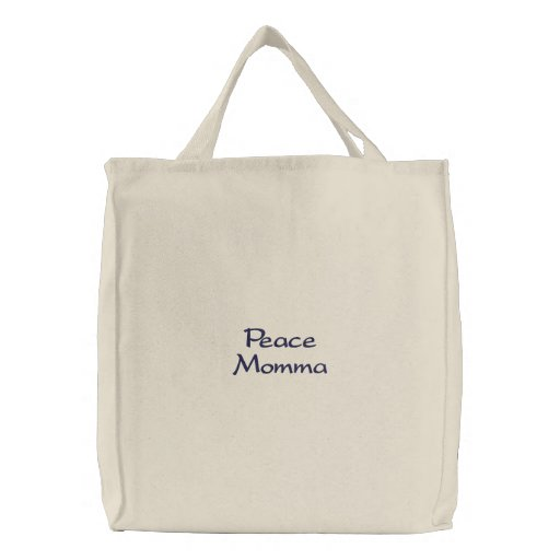 Peace Momma Embroidered Bag