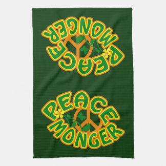 Peace Monger custom kitchen towels