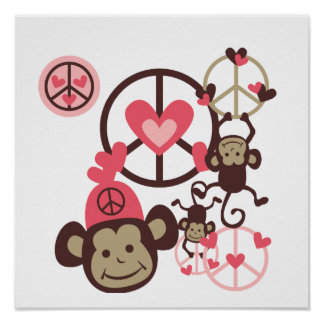 Peace Monkey Posters