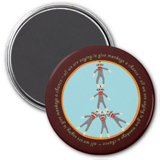 Peace Monkeys Magnet