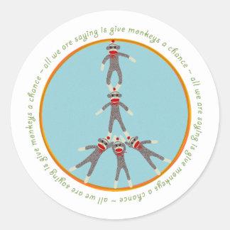 Peace Monkeys Sticker