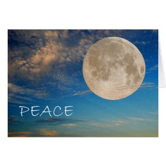 Peace Moon Holiday Card