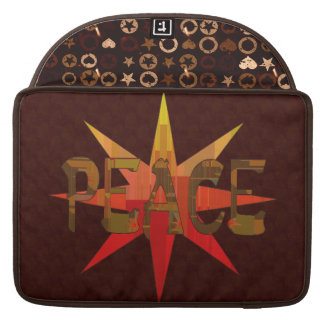 Peace Mosaic Sleeve For MacBook Pro