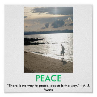 PEACE motivational poster