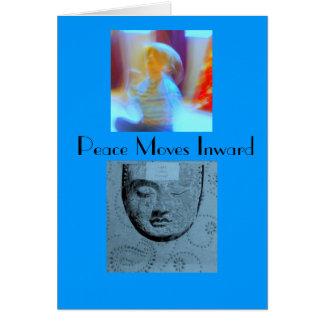 Peace Moves Inward Card