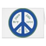 Peace Multilingual Card