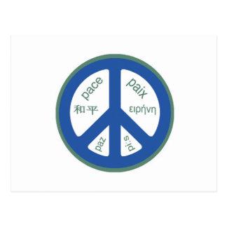 Peace Multilingual Postcard