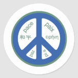 Peace Multilingual Round Sticker
