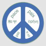 Peace Multilingual Stickers