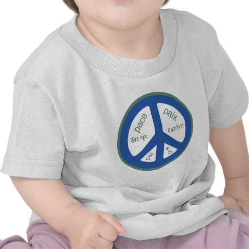 Peace Multilingual Tee Shirts