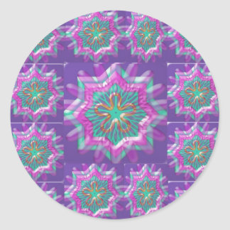 Peace n Joy: Holy Purple Star Constellation Classic Round Sticker