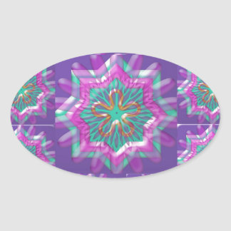 Peace n Joy: Holy Purple Star Constellation Oval Sticker