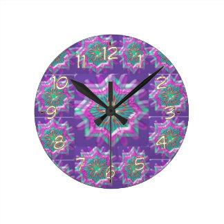 Peace n Joy: Holy Purple Star Constellation Round Clock