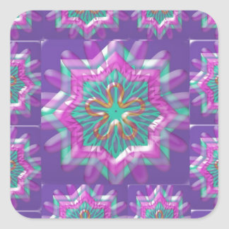 Peace n Joy: Holy Purple Star Constellation Square Sticker