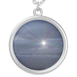 Peace Round Pendant Necklace