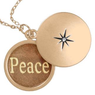 Peace Round Locket Necklace