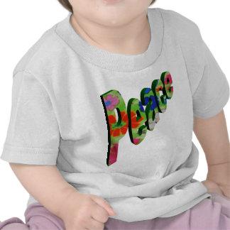 Peace Neon Flowers Tee Shirts