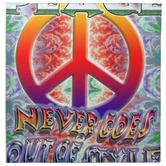 Peace Never Goes Out Of Style Cloth Napkin