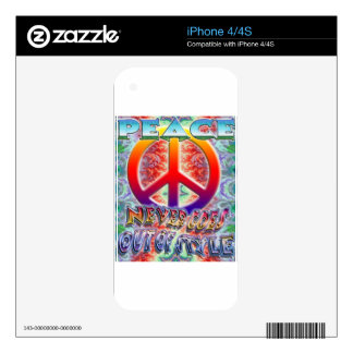 Peace Never Goes Out Of Style iPhone 4S Skins