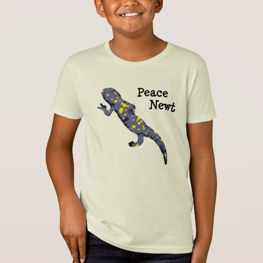 Peace Newt colorful t-shirt