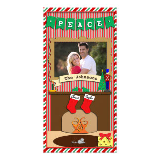 Peace • Night Before Christmas Spirit • 2 Stocking Card