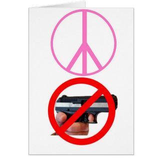 peace no guns card