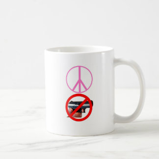 peace no guns coffee mug
