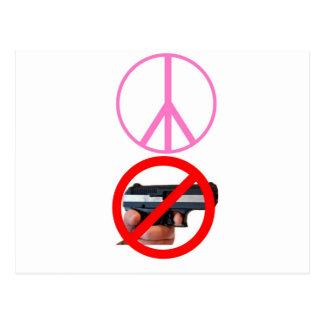 peace no guns postcard
