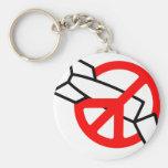 Peace No War Keychain