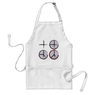 Peace  NOT Crosshairs Apron