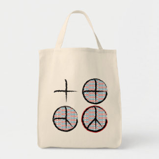 Peace  NOT Crosshairs Canvas Bags
