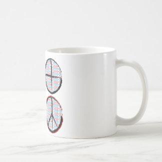 Peace  NOT Crosshairs Coffee Mug