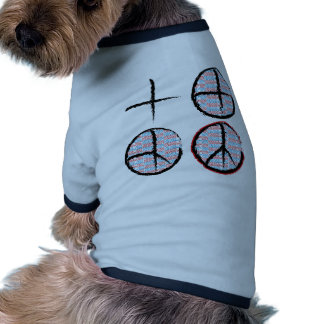 Peace  NOT Crosshairs Doggie T Shirt