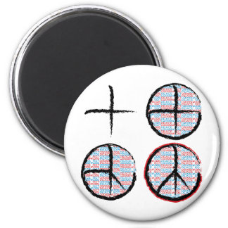 Peace  NOT Crosshairs Fridge Magnets