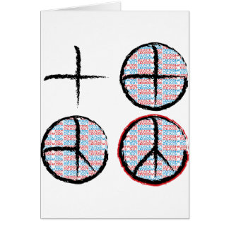 Peace  NOT Crosshairs Greeting Cards