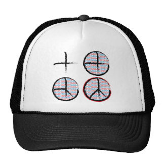 Peace  NOT Crosshairs Hat