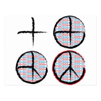 Peace  NOT Crosshairs Postcard