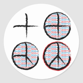 Peace  NOT Crosshairs Stickers