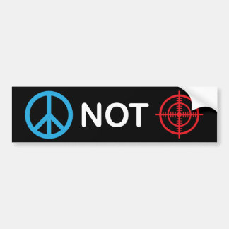 Peace Not Gun Sights Bumper Sticker