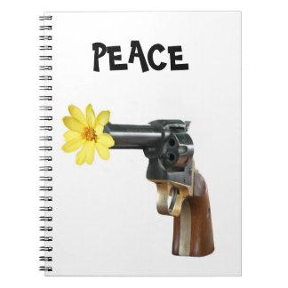 Peace not war spiral note book