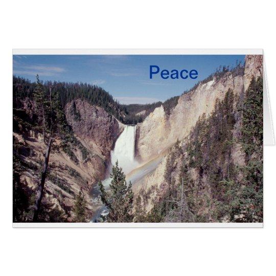 Peace notecard  Lower Falls