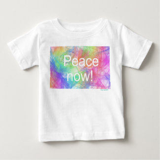 Peace now2! Baby Fine Jersey T-Shirt