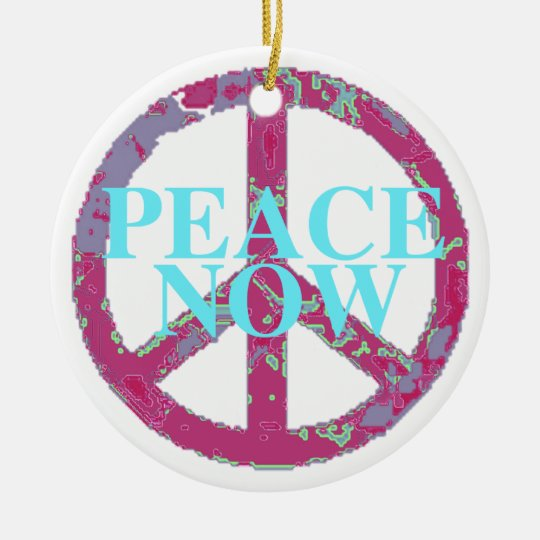 Peace Now Ceramic Ornament