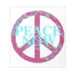Peace Now Memo Note Pad