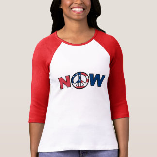 Peace Now Red White and Blue T-Shirt