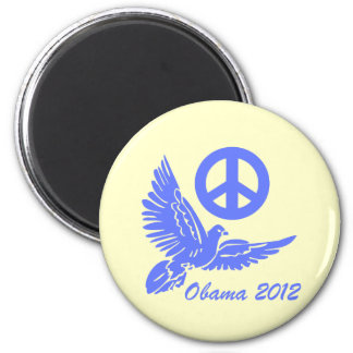peace Obama 2012 2 Inch Round Magnet