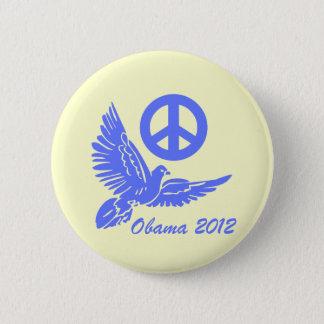 peace Obama 2012 Button