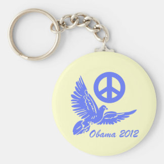 peace Obama 2012 Keychain