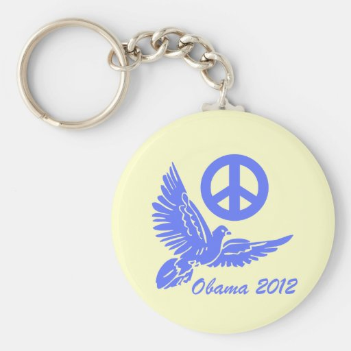 peace Obama 2012 Keychain