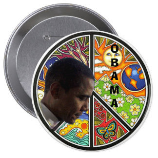 PEACE OBAMA PINBACK BUTTONS